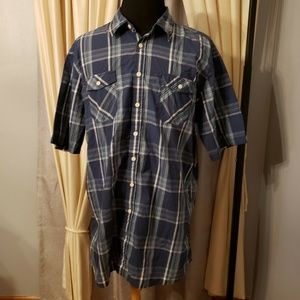 Sonoma  Life & Style Shirt Plaid Button Up